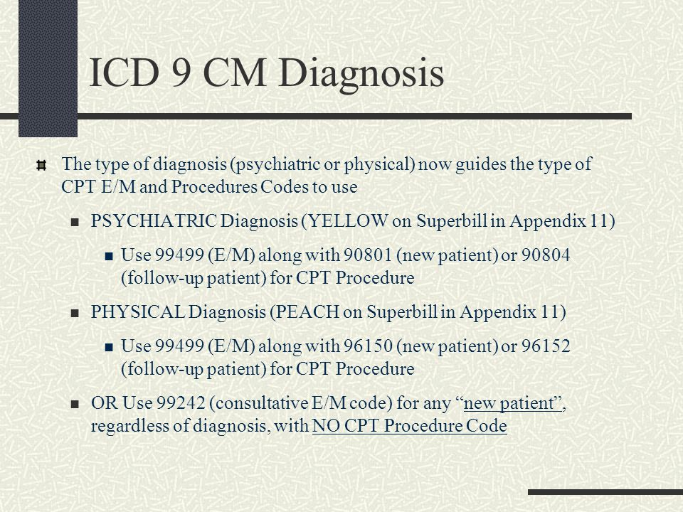 E & M Codes If using a CPT Procedure code, then use 99499 (unlisted E/M Code) because the CPT Procedure Codes used for BH in primary care are Comprehensive Codes Telephone contacts are types of CPT E/M codes – 3 types DO CODE these DO NOT code a CPT Procedure code with telecons