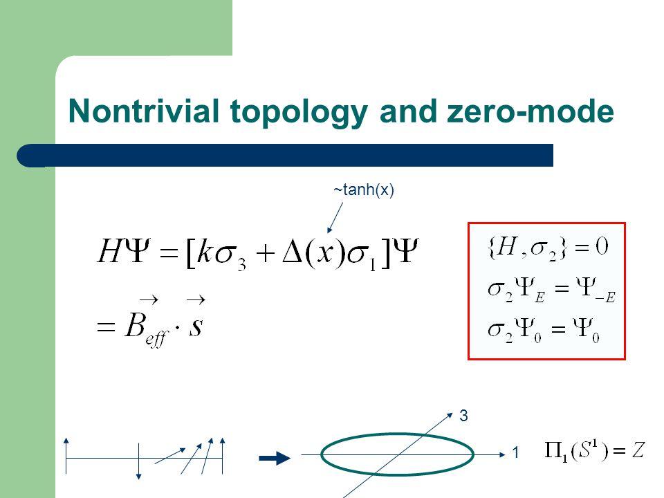 Nontrivial topology and zero-mode 1 3 ~tanh(x)