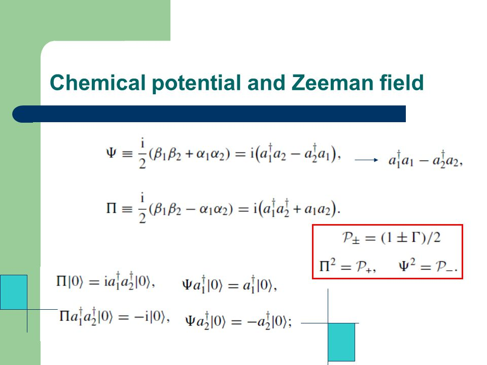 Chemical potential and Zeeman field