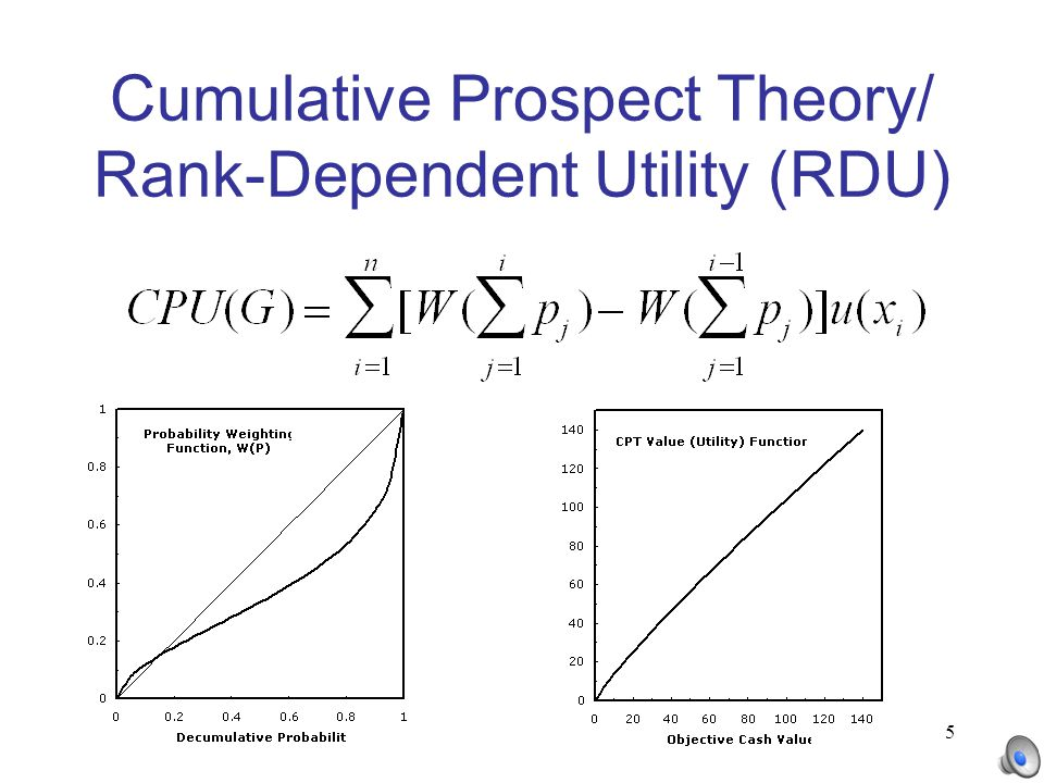 5 Cumulative Prospect Theory/ Rank-Dependent Utility (RDU)
