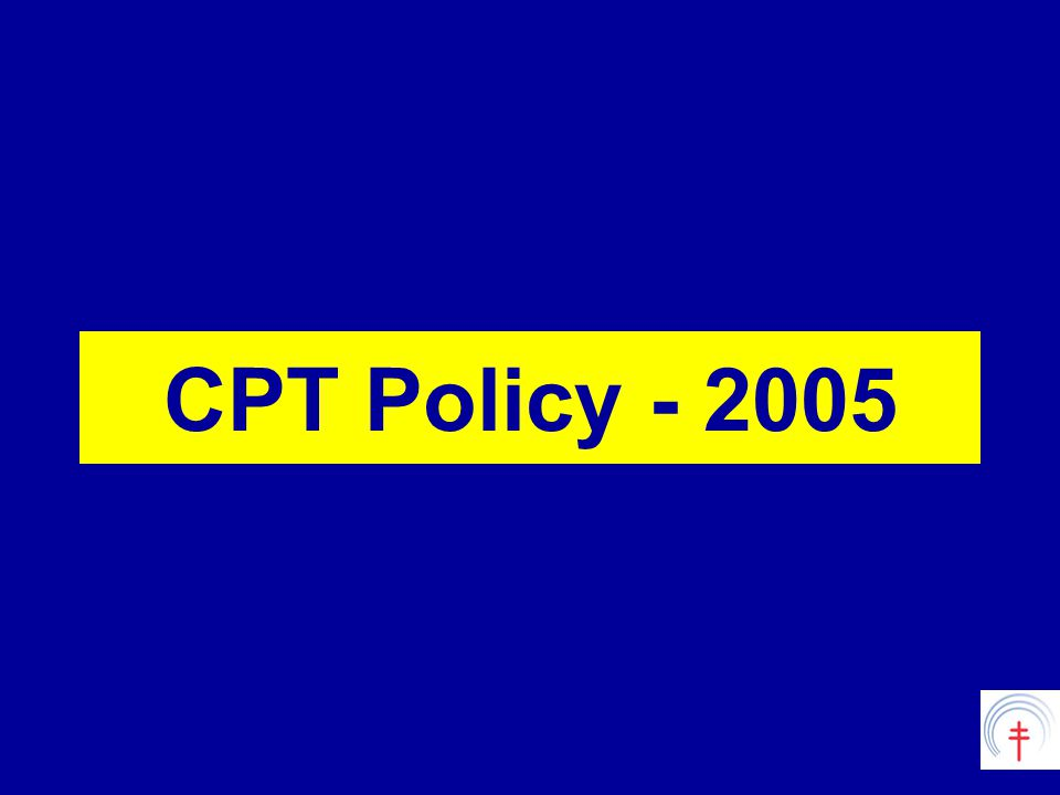 CPT Policy - 2005