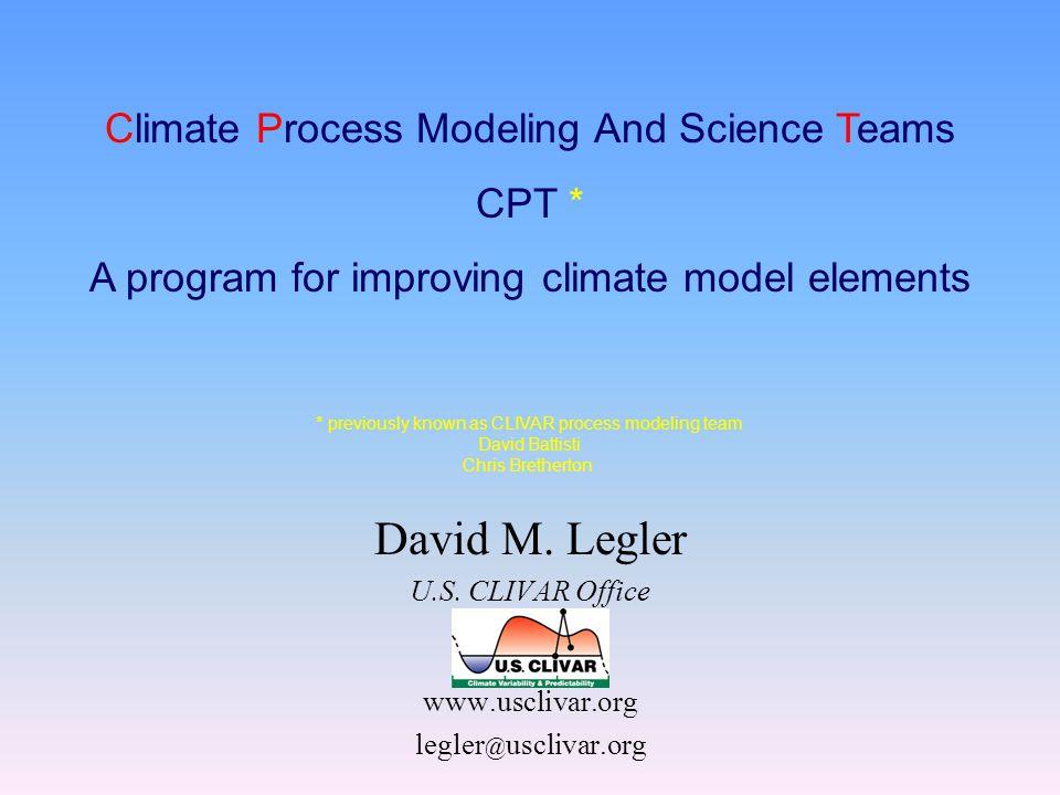 David M. Legler U.S.