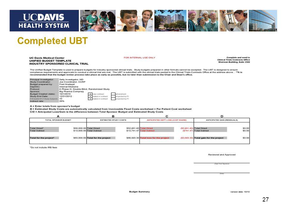 Completed UBT 27