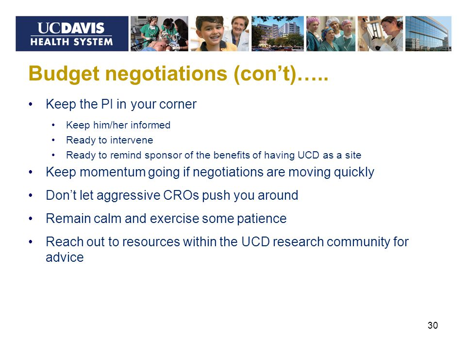 Budget negotiations (con't)…..