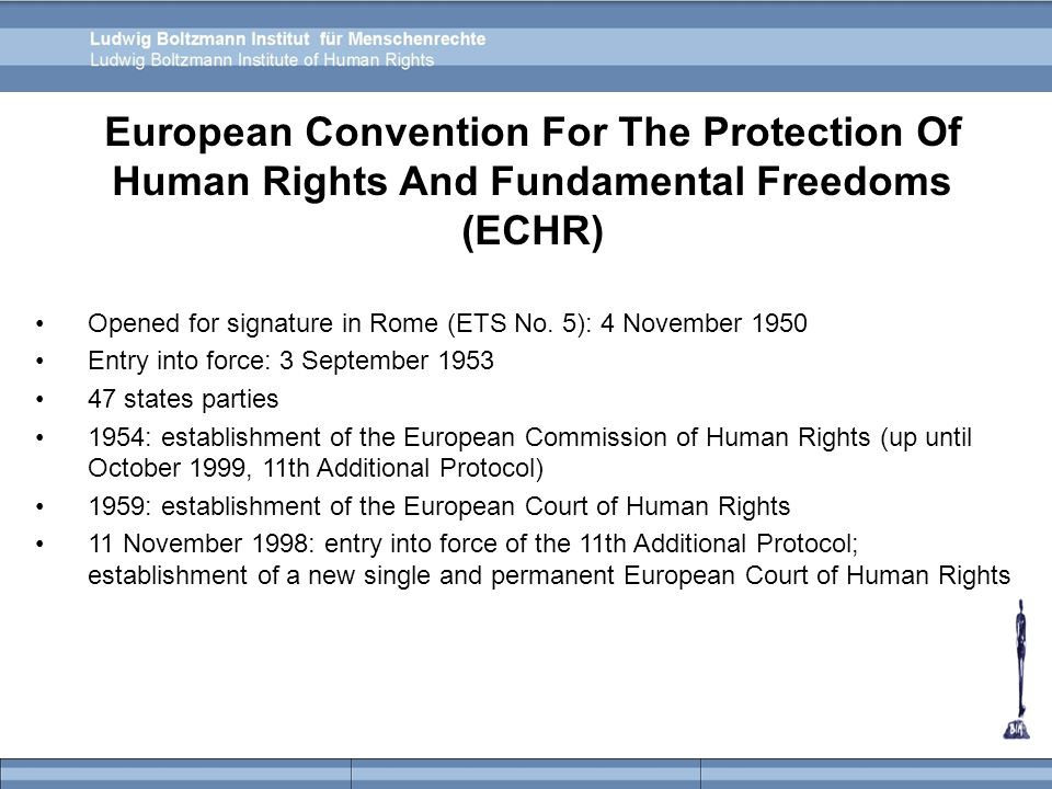 Ratification of the ECHR