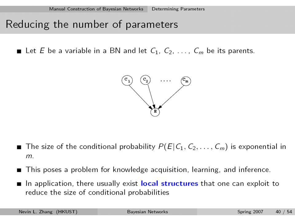 Local structure24 Representing CSI Using decision trees Using decision graphs