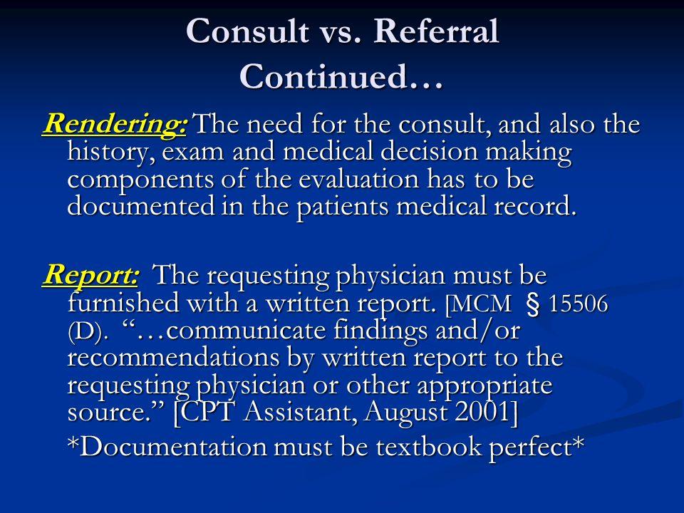 Consult vs.