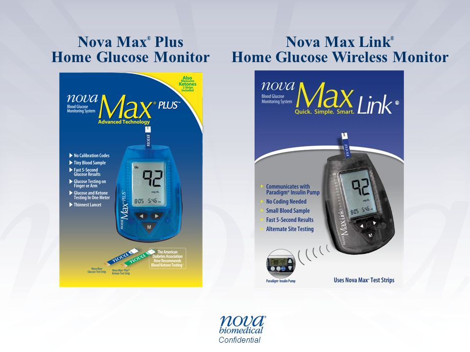Confidential Nova Max ® Plus Home Glucose Monitor Nova Max Link ® Home Glucose Wireless Monitor ®