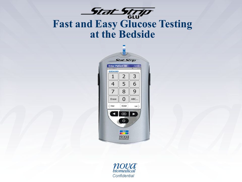Confidential Fast and Easy Glucose Testing at the Bedside