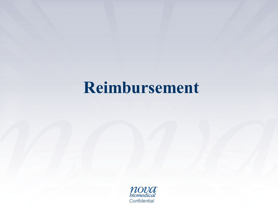 Confidential Reimbursement