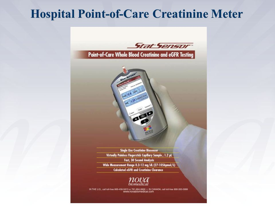 Confidential Hospital Point-of-Care Creatinine Meter