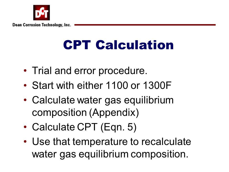CPT Calculation Trial and error procedure.