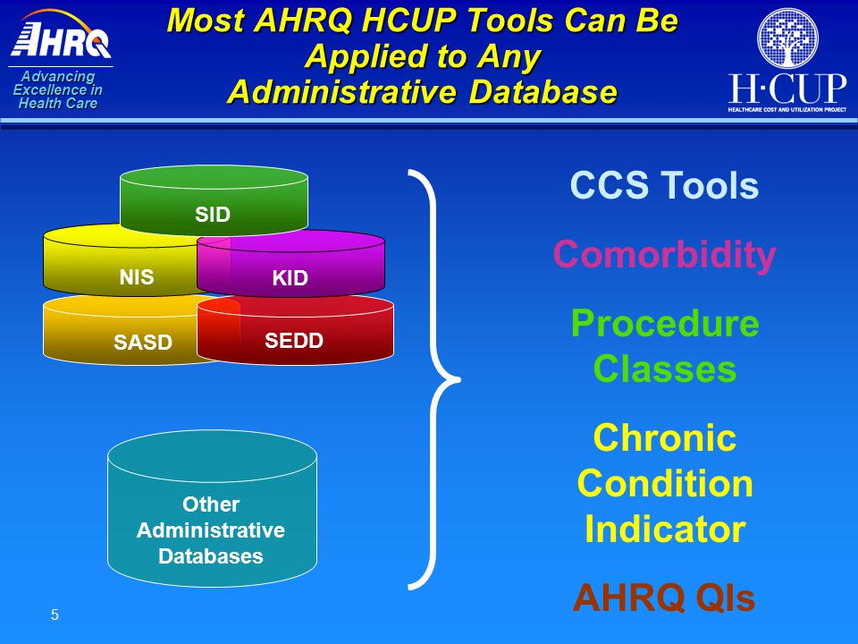 Advancing Excellence in Health Care 16 Download the Comorbidity Software