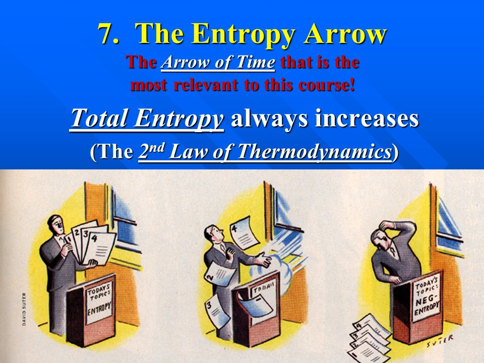 7. The Entropy Arrow The Arrow of Time that is the most relevant to this course.