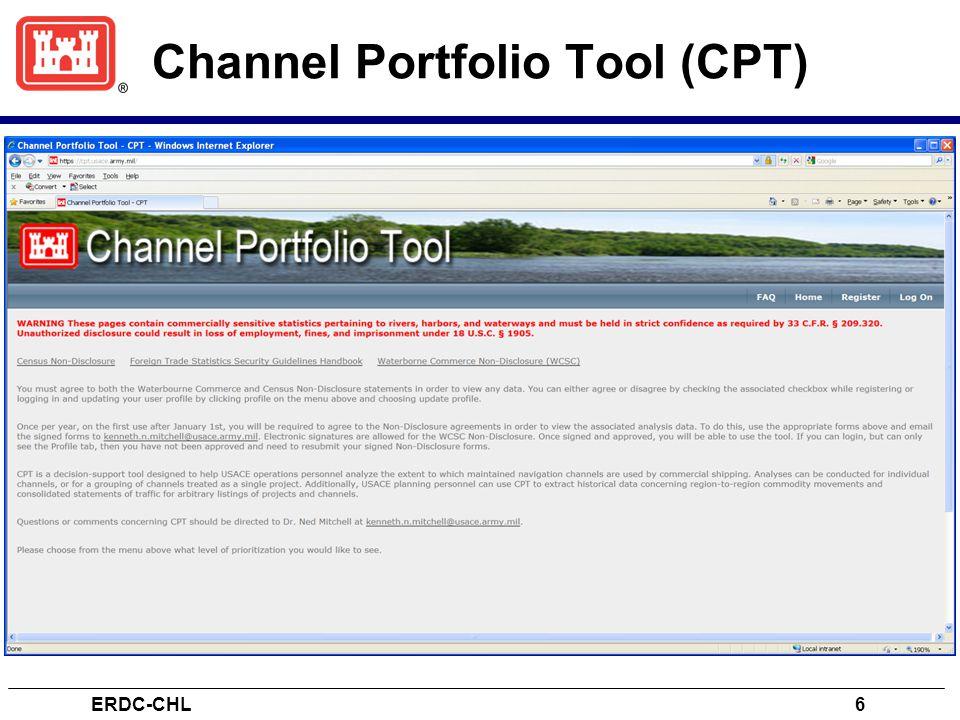 Channel Portfolio Tool (CPT) ERDC-CHL6