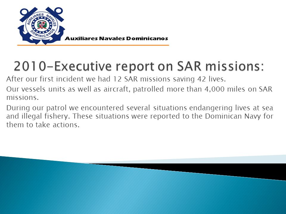 After our first incident we had 12 SAR missions saving 42 lives.
