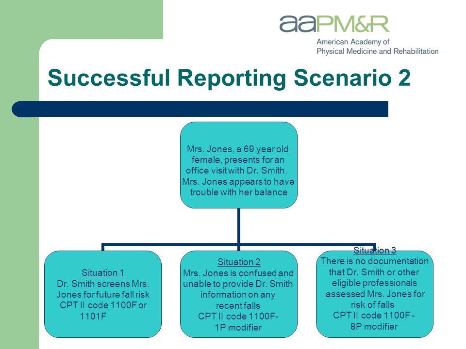 Successful Reporting Scenario 2 Mrs.