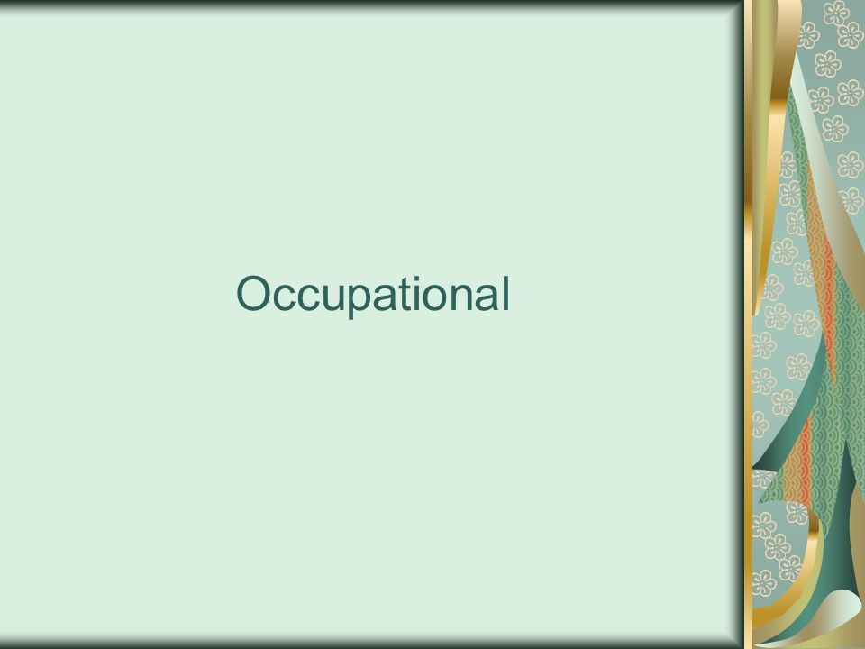 Occupational