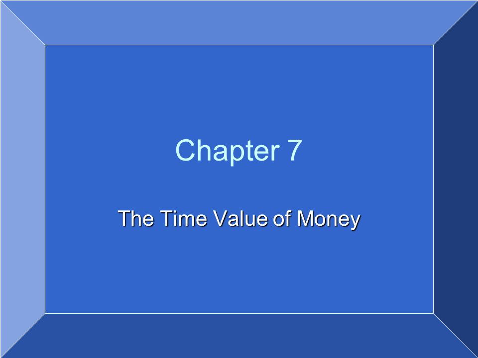 Copyright © 2007 by John Wiley & Sons, Inc. All rights reserved Chapter 7 The Time Value of Money
