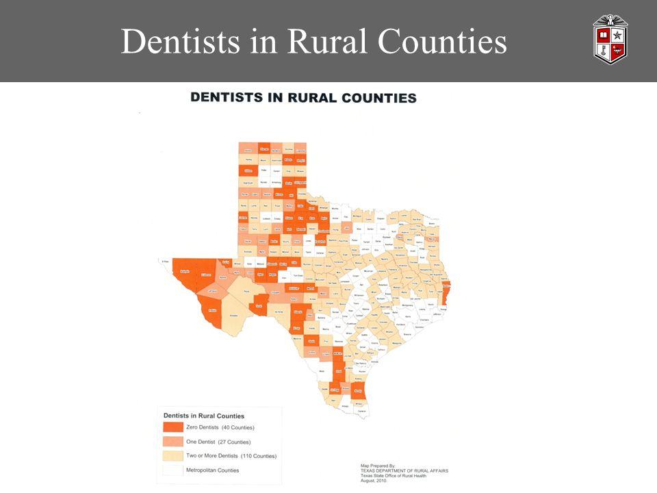 Dentists in Rural Counties
