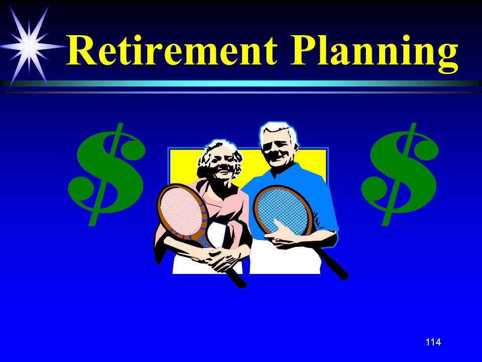 114 Retirement Planning