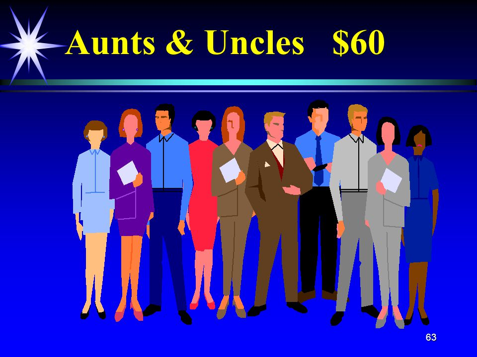 63 Aunts & Uncles $60