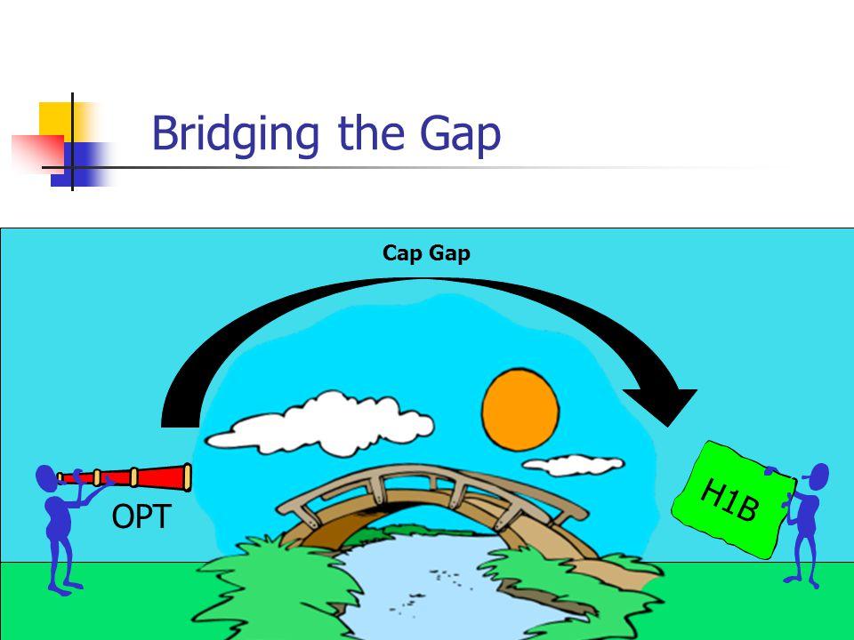 Bridging the Gap © 1999 by David Schaumburg H1B OPT Cap Gap
