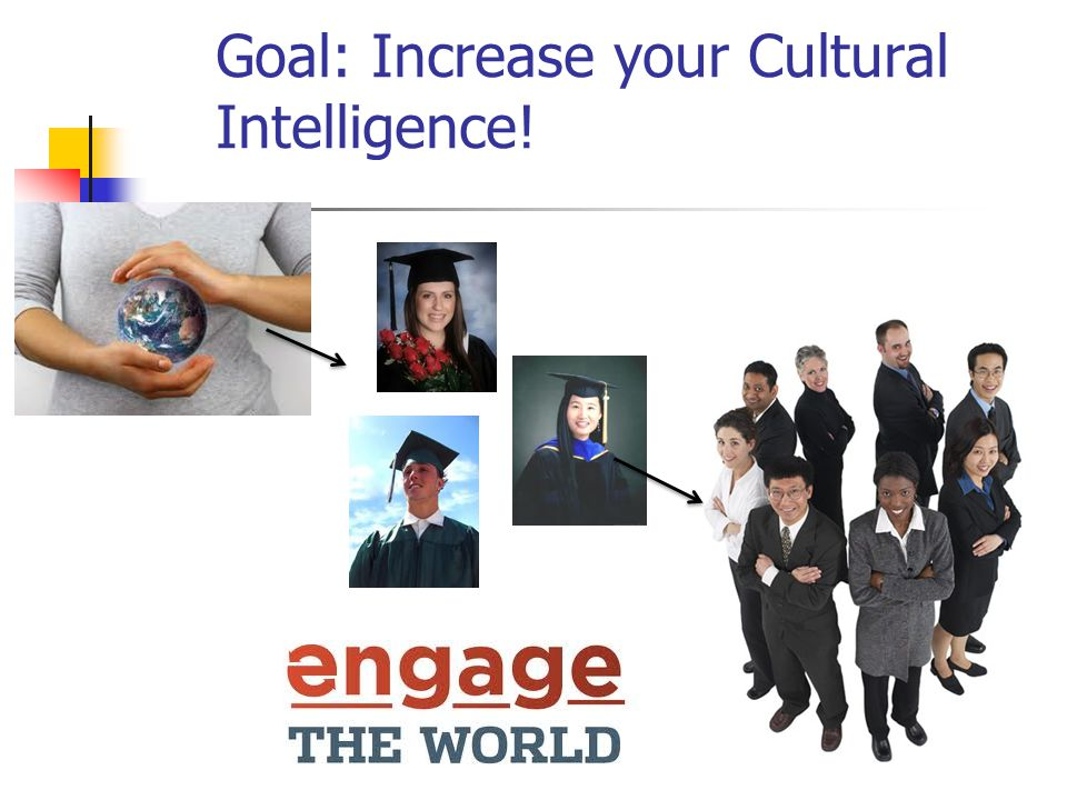 Goal: Increase your Cultural Intelligence!