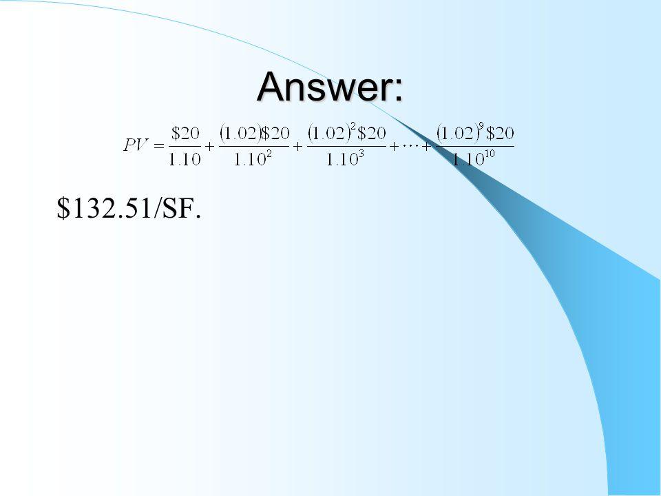 Answer: $132.51/SF.