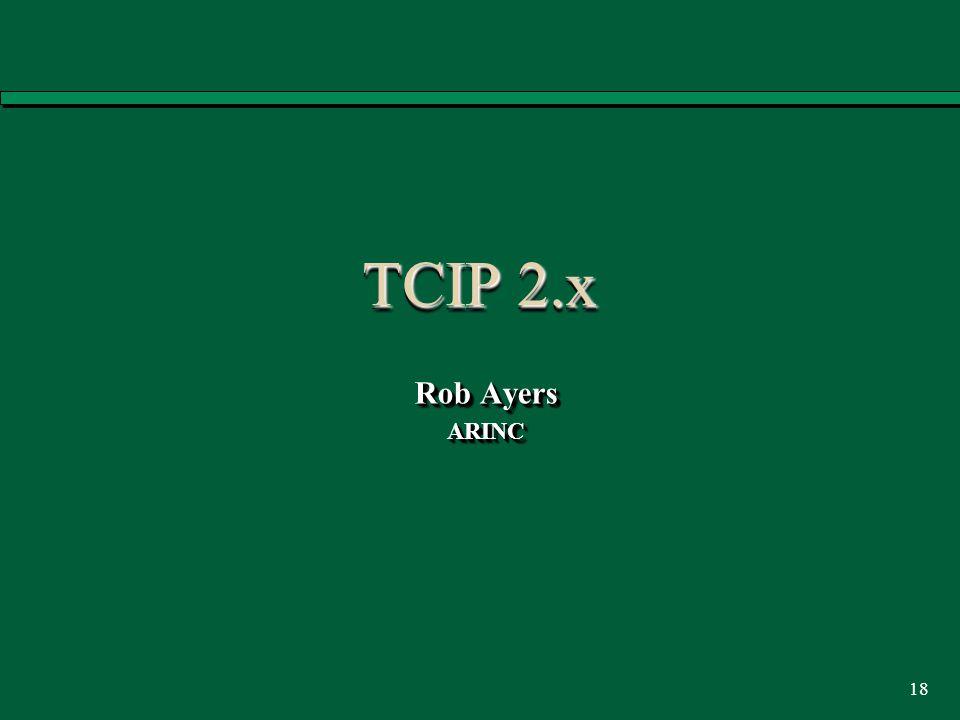 18 TCIP 2.x Rob Ayers ARINC ARINC