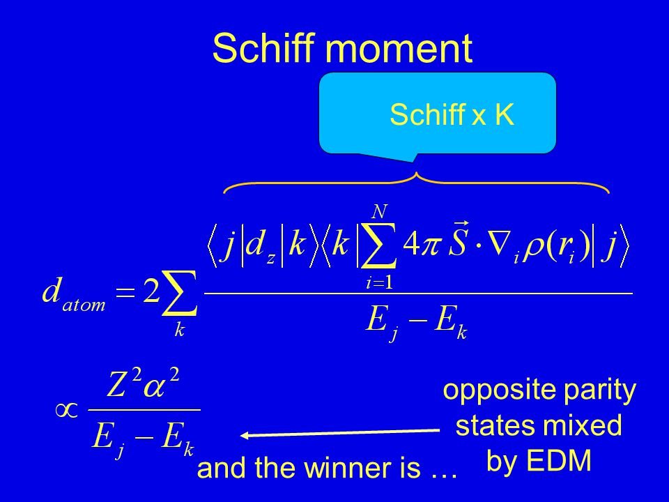 Schiff moment MQM E octupole E P,T-odd interactions atomic enhancement factor Enhancement of nuclear EDM in diamagnetic atoms