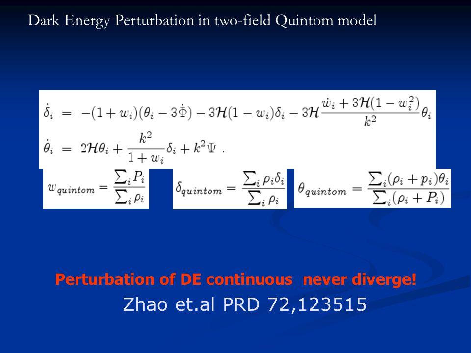 Perturbation of DE continuous never diverge.