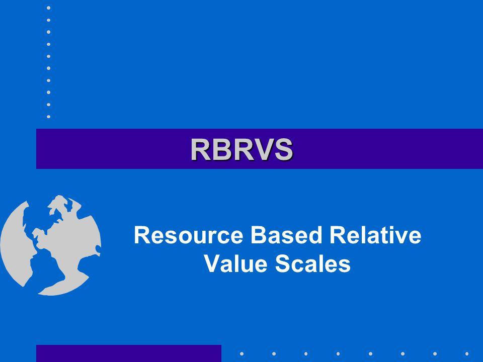 RBRVSRBRVS Resource Based Relative Value Scales