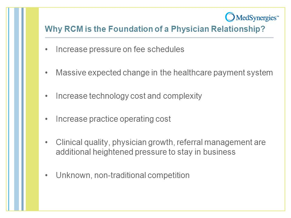 Why RCM is the Foundation of a Physician Relationship.