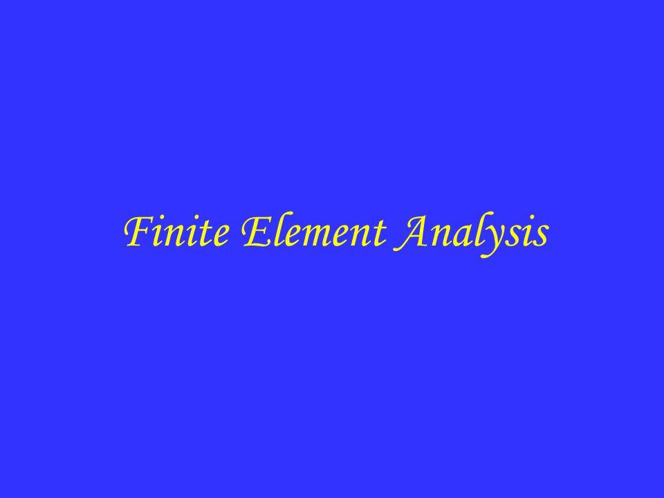 Finite Element mesh Finite Element Analysis