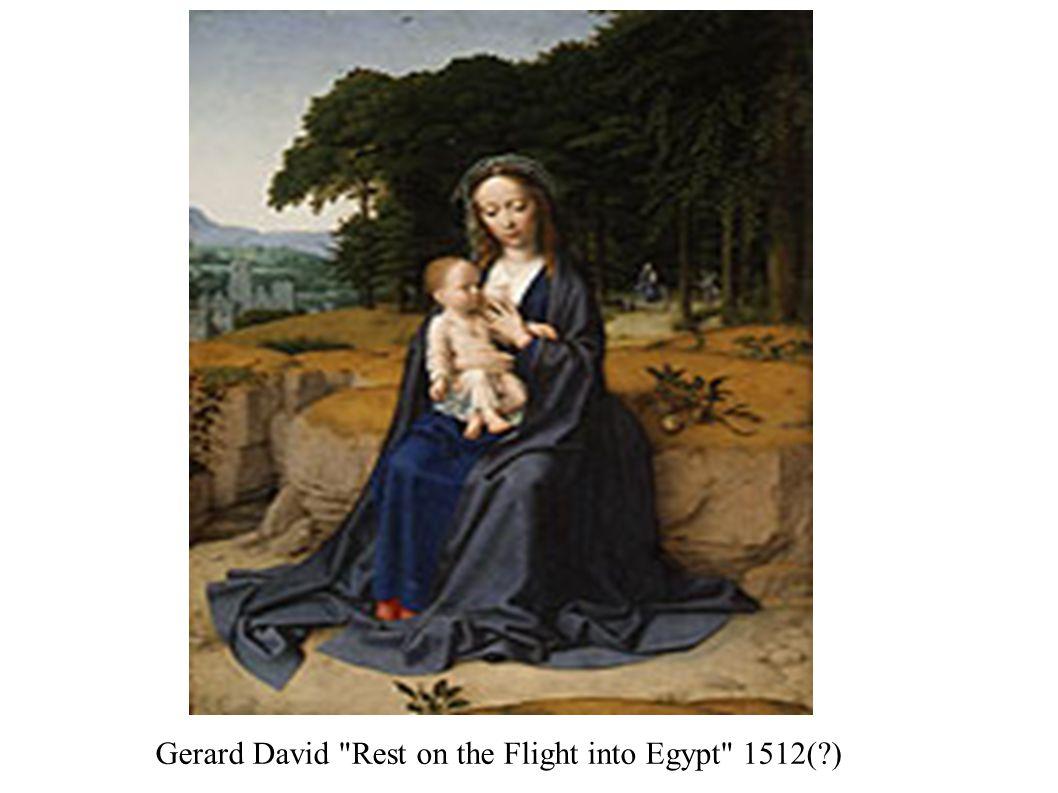 Gerard David Rest on the Flight into Egypt 1512( )