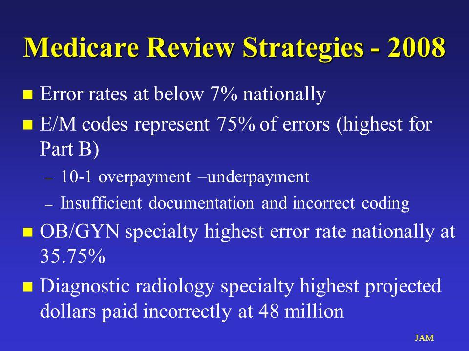 JAM Top 5 Errors by Profession - 2006 n OB/GYN n Neurology n Chiropractic n Optometry – 11.6% n Nephrology