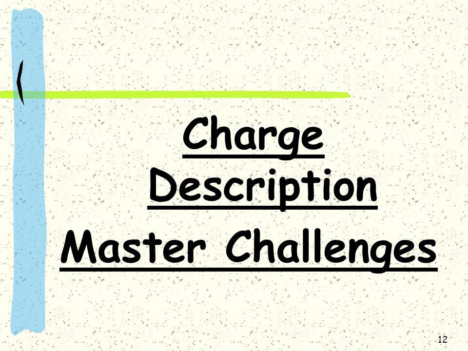 12 Charge Description Master Challenges