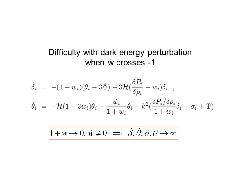 Difficulty with dark energy perturbation when w crosses -1