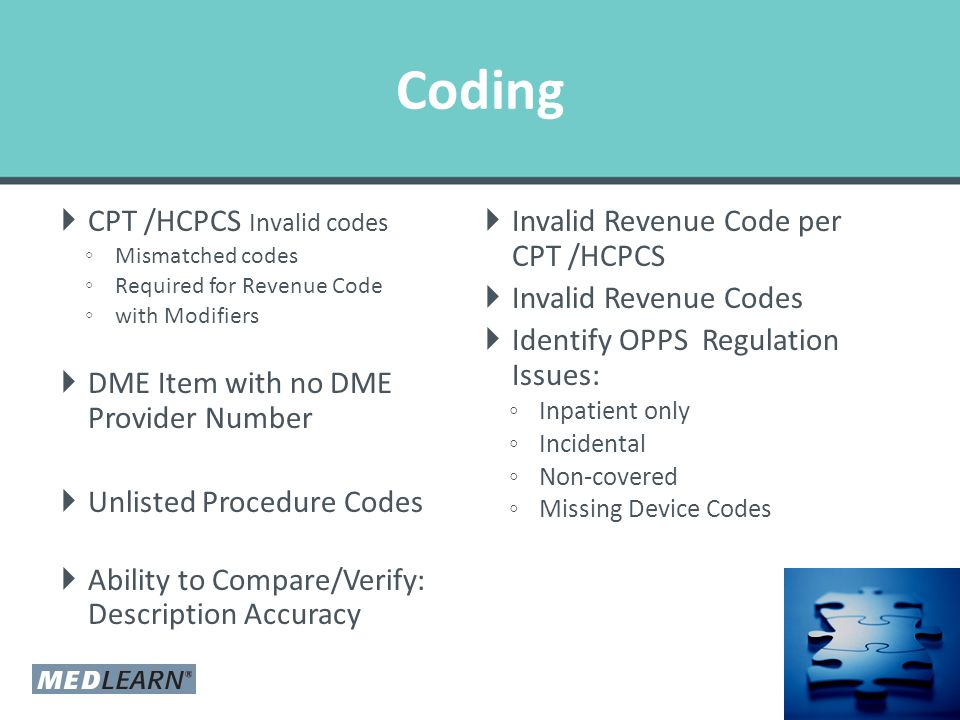 Model Overlays  Identify codes that are not in your CDM  Model Overlays for – TPT – DME – CPT