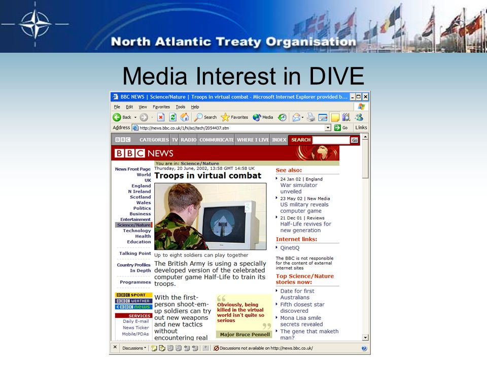 Media Interest in DIVE