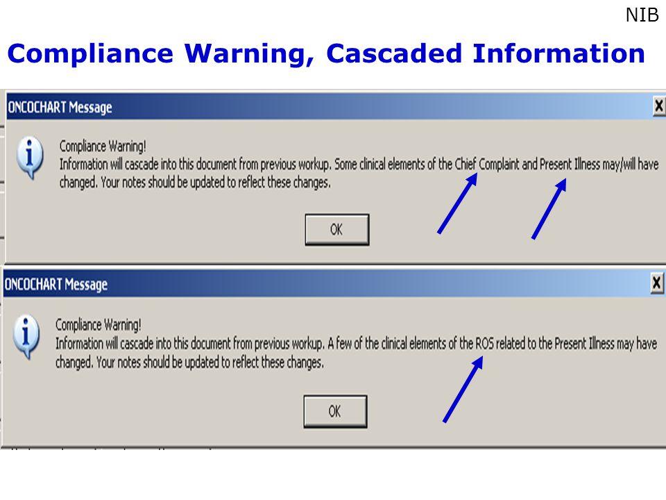 Compliance Warning, Cascaded Information