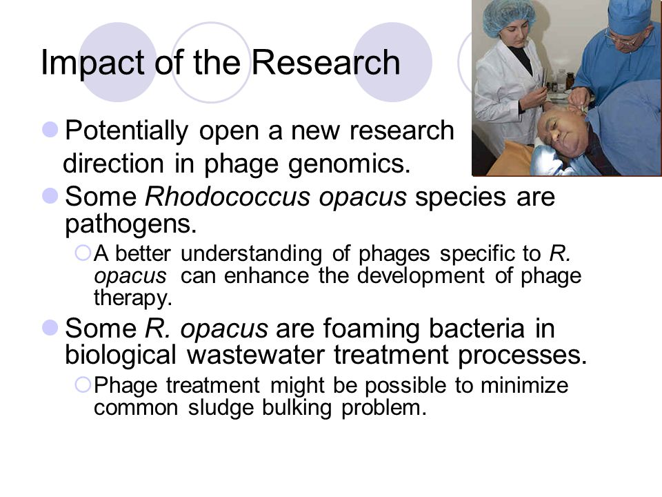 Impact of the Research Potentially open a new research direction in phage genomics.