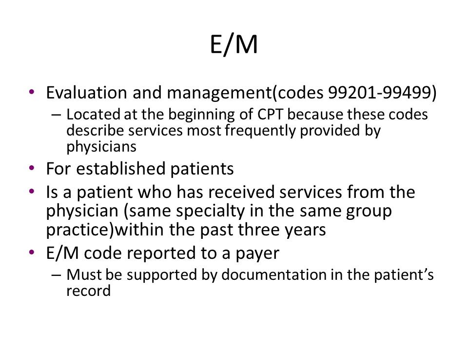 Steps To Use A CPT Book(7 steps) Step 1: – Read introduction in CPT coding manual Step 2: – Review guidelines at beginning of each section Step 3: – Review procedure Step 4: – Refer to CPT index – Locate main term for procedure or service documented Step 5: – Locate sub-terms and follow cross references – Hint: if the main term is located at the bottom of the CPT index page, turn the page and check to see if the main term and sub-terms continue Step 6: – Review descriptions of service/procedure codes, and compare all qualifiers to descriptive statements