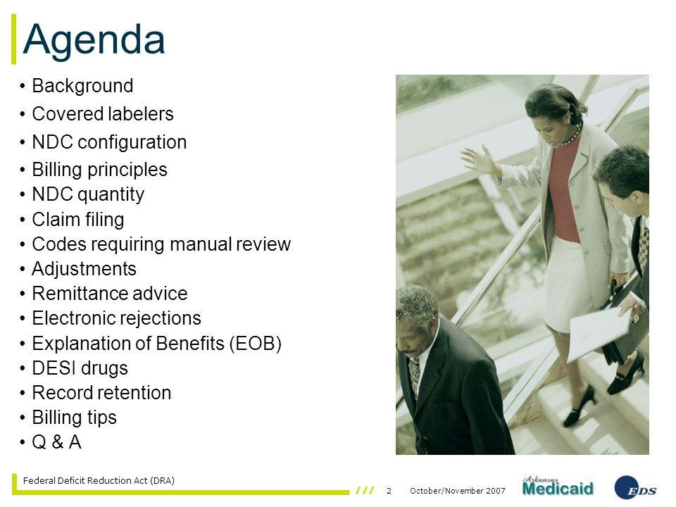 53October/November 2007 Federal Deficit Reduction Act (DRA)