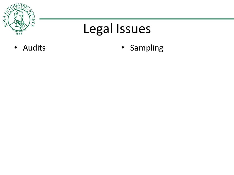Legal Issues Audits Sampling