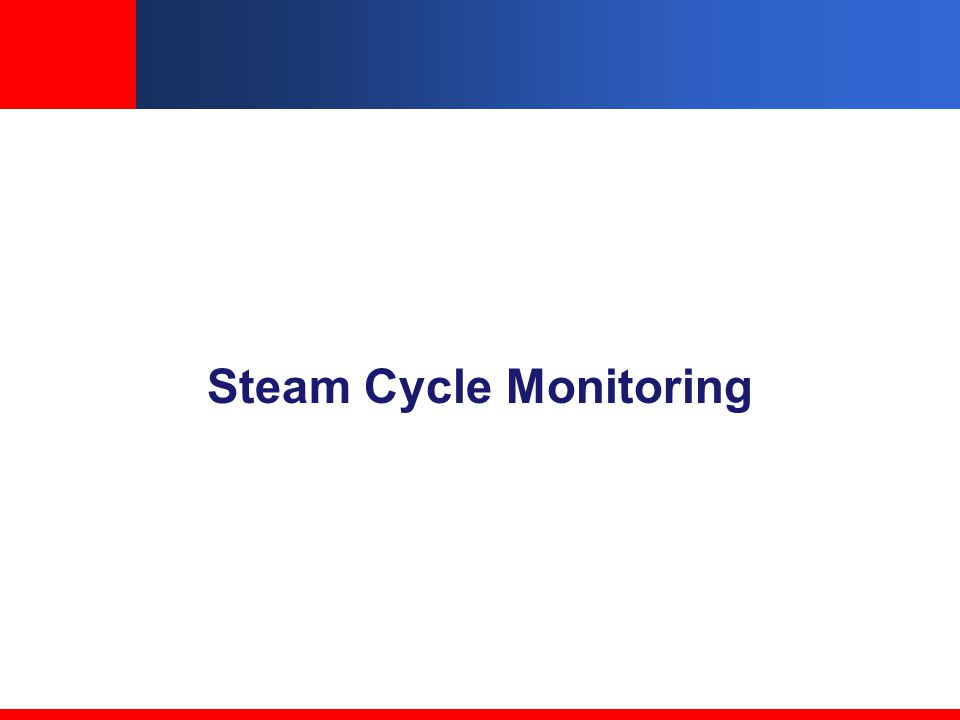 Steam Cycle Monitoring