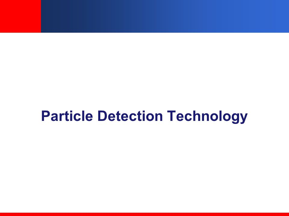 Particle Detection Technology