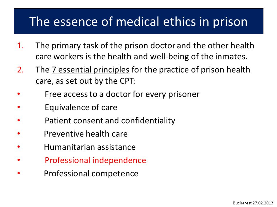 Dual Loyalty: the clinical role conflict between professional duties to the patient and obligations, express or implied, to the interests of a third party such as the prison government.
