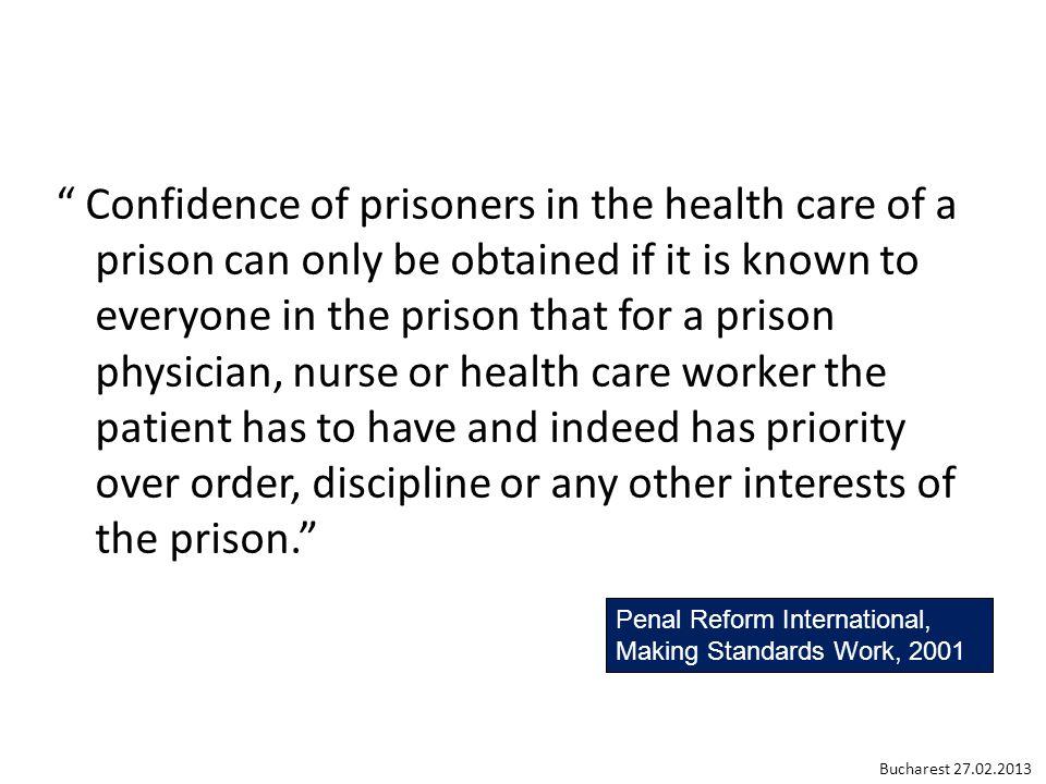 Geneva Declaration 2012 on Health Care in Prison http://ump.hug-ge.ch / Geneva.Declaration@hcuge.ch Bucharest 27.02.2013